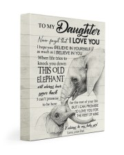 THIS OLD ELEPHANT - TO DAUGHTER FROM DAD 11x14 Gallery Wrapped Canvas Prints front