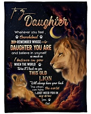 "I BELIEVE IN YOU - LOVELY GIFT FOR DAUGHTER Large Fleece Blanket - 60"" x 80"" front"