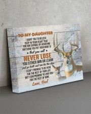 YOU WILL NEVER LOSE - TO DAUGHTER FROM DAD 14x11 Gallery Wrapped Canvas Prints aos-canvas-pgw-14x11-lifestyle-front-15