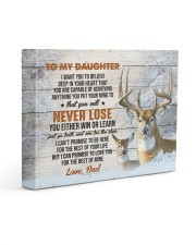 YOU WILL NEVER LOSE - TO DAUGHTER FROM DAD 14x11 Gallery Wrapped Canvas Prints front