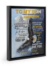 ALWAYS REMEMBER HOW MUCH I LOVE YOU 11x14 Black Floating Framed Canvas Prints thumbnail