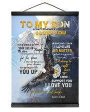 ALWAYS REMEMBER HOW MUCH I LOVE YOU 12x16 Black Hanging Canvas thumbnail