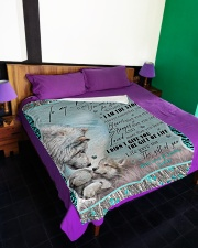 """I AM THE STORM Large Fleece Blanket - 60"""" x 80"""" aos-coral-fleece-blanket-60x80-lifestyle-front-01"""