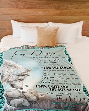 """I AM THE STORM Large Fleece Blanket - 60"""" x 80"""" aos-coral-fleece-blanket-60x80-lifestyle-front-02"""