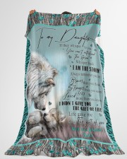 """I AM THE STORM Large Fleece Blanket - 60"""" x 80"""" aos-coral-fleece-blanket-60x80-lifestyle-front-10"""