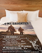 """CARRY YOU IN MY HEART - LOVELY GIFT FOR DAUGHTER Large Fleece Blanket - 60"""" x 80"""" aos-coral-fleece-blanket-60x80-lifestyle-front-02"""