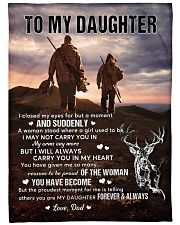 """CARRY YOU IN MY HEART - LOVELY GIFT FOR DAUGHTER Large Fleece Blanket - 60"""" x 80"""" front"""
