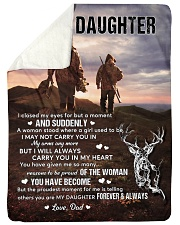 """CARRY YOU IN MY HEART - LOVELY GIFT FOR DAUGHTER Large Sherpa Fleece Blanket - 60"""" x 80"""" thumbnail"""