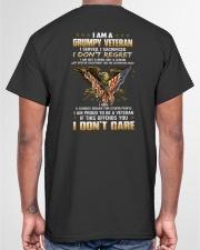 I AM A GRUMPY VETERAN - PERFECT GIFT FOR DAD Classic T-Shirt garment-tshirt-unisex-back-04