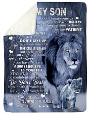 """LIFE MAY SOMETIMES BE DIFFICULT AND UNFAIR Large Sherpa Fleece Blanket - 60"""" x 80"""" thumbnail"""