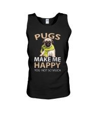 Buy Pugs Makes Me Happy You Not So Much Funny Pug Unisex Tank thumbnail