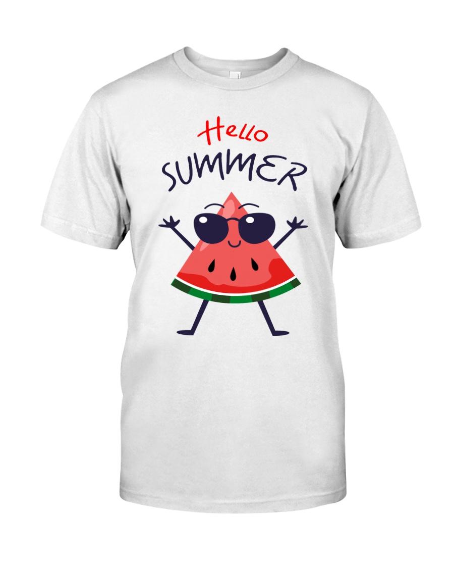Hello Summer Watermelon Funny T-shirt Classic T-Shirt