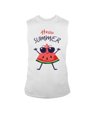 Hello Summer Watermelon Funny T-shirt Sleeveless Tee thumbnail