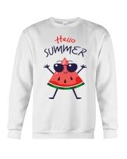 Hello Summer Watermelon Funny T-shirt Crewneck Sweatshirt thumbnail