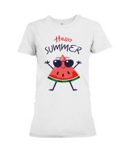 Hello Summer Watermelon Funny T-shirt Premium Fit Ladies Tee thumbnail
