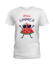 Hello Summer Watermelon Funny T-shirt Ladies T-Shirt thumbnail