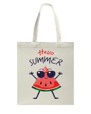 Hello Summer Watermelon Funny T-shirt Tote Bag thumbnail