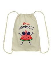Hello Summer Watermelon Funny T-shirt Drawstring Bag thumbnail