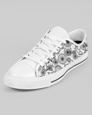 Cycling lover Men's Low Top White Shoes aos-men-low-top-shoes-ghosted-white-outside-left-02