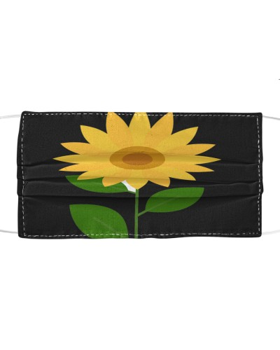 Sunflower cloth face mask