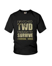 Survive with TWD ver 2 - dark Youth T-Shirt thumbnail
