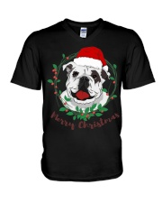 bulldog shirt V-Neck T-Shirt thumbnail