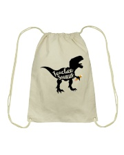 teacher shirts Drawstring Bag thumbnail