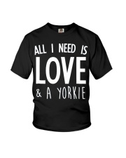 yorkie shirt Youth T-Shirt tile