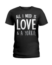 yorkie shirt Ladies T-Shirt front