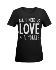 yorkie shirt Ladies T-Shirt women-premium-crewneck-shirt-front
