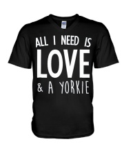 yorkie shirt V-Neck T-Shirt tile