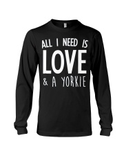 yorkie shirt Long Sleeve Tee tile