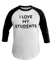 teacher shirt Baseball Tee front