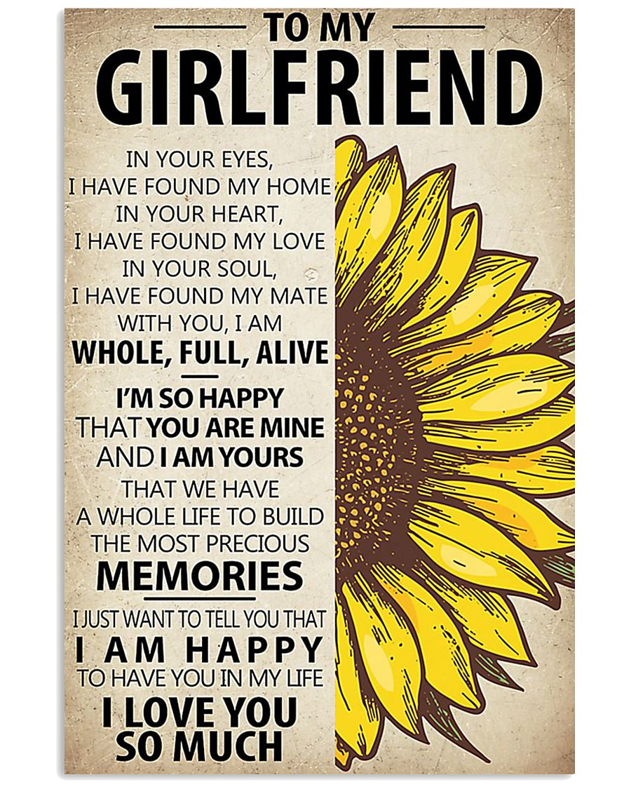 To My Girlfriend In Your Eyes 11x17 Poster