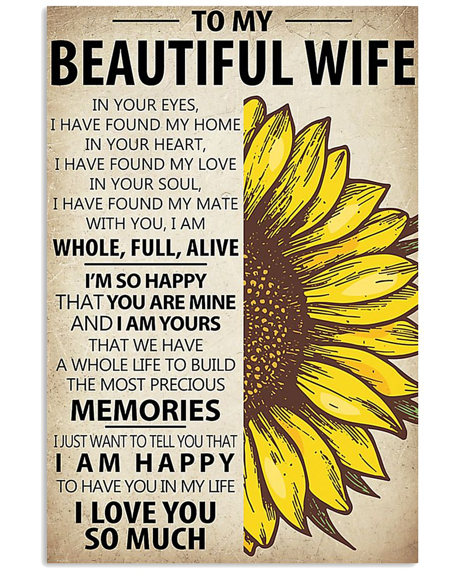 To My Wife Sunflower 11x17 Poster