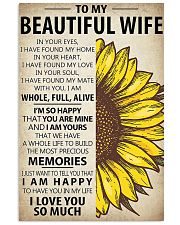 To My Wife Sunflower 11x17 Poster front