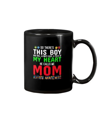 He Calls Me Mom cute autism awareness Gift