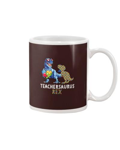 Autism teacher dinosaur t shirt teachersaurus