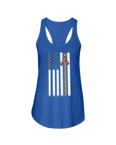 American Flag Distressed Shirts-Autism Awareness