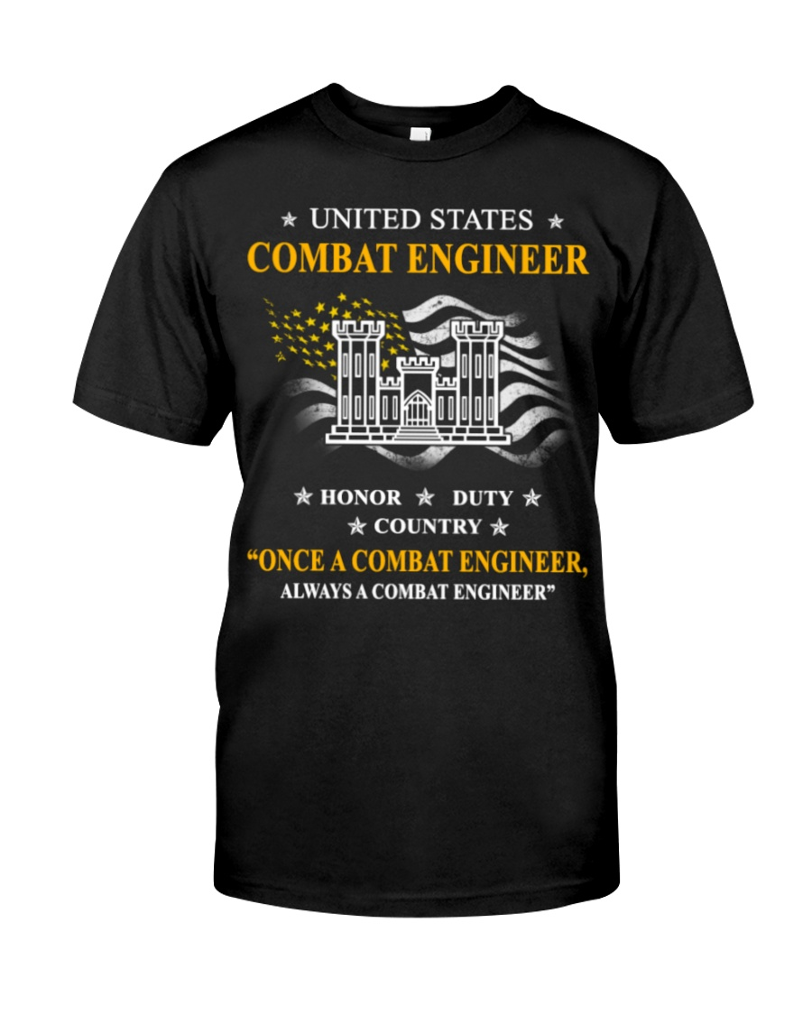 Combat Engineer Us Army Combat Engineer Army Com 3 Classic T-Shirt