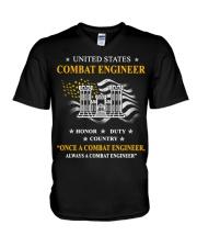 Combat Engineer Us Army Combat Engineer Army Com 3 V-Neck T-Shirt thumbnail