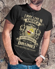 Live In America - Made In Brunei Classic T-Shirt lifestyle-mens-crewneck-front-4