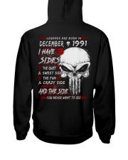 1991-12 Hooded Sweatshirt back