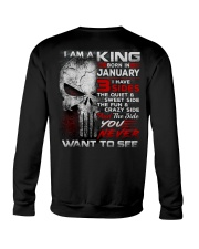 KING THREE SIDE 1 Crewneck Sweatshirt thumbnail