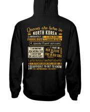 Queens North Korea Hooded Sweatshirt back