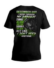 MY DARKEST 12 V-Neck T-Shirt thumbnail