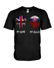 Home United Kingdom - Blood Slovakia V-Neck T-Shirt thumbnail