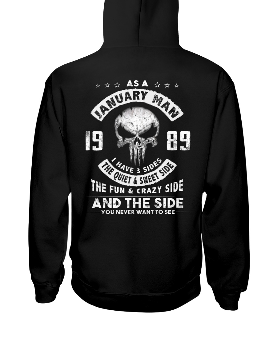 MAN 3SIDE 89-1 Hooded Sweatshirt