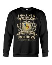 Live In America - Made In Moldova Crewneck Sweatshirt thumbnail
