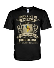 Live In America - Made In Moldova V-Neck T-Shirt thumbnail